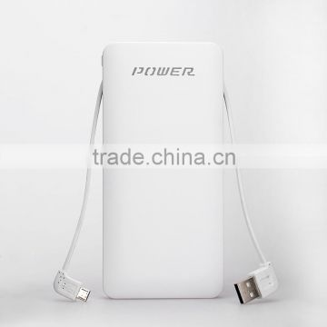 new arrival 10000mah mobile portable power bank charging 3 device at same time