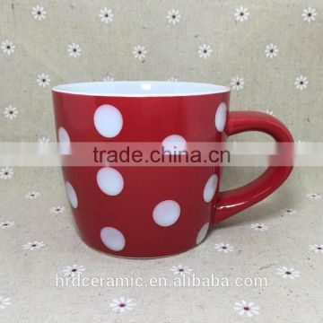 Stocked Cheap red Ceramic cup,Ceramic coffee cup , milk Mug