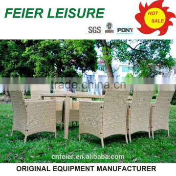PE rattan/wicker outdoor garden coffee tables and chairs