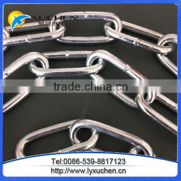 Linyi factory DIN766 Electric Galvanized Steel Link Chain