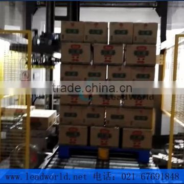High level Automatic pickle canned glass jar carton palletizer machine