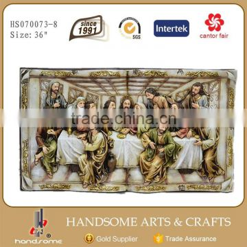 36 Inch Resin Last supper sculpture Outdoor Wall Art Hanging Decoration Plaques