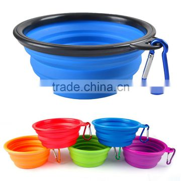 Wholesale Collapsible Supreme Silicone Pet Food Bowl Travel Silicone Dog Bowl