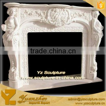 Indoor decoration white Marble Fireplace Surround