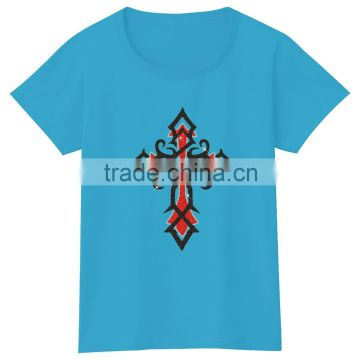 Customize Design Cross Glitter Motif OEM Service Supply Type Women tshirt