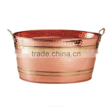 copper antquie round buckets for party