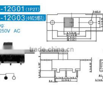 SS-12G01 slide switch