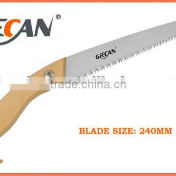 wooden handle prunning hand saw for cutting tree