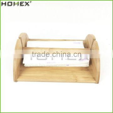 Bamboo table tissue holder /napkin holder Homex-BSCI