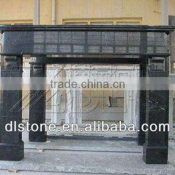 Black fireplace mantel popular in granite and marble