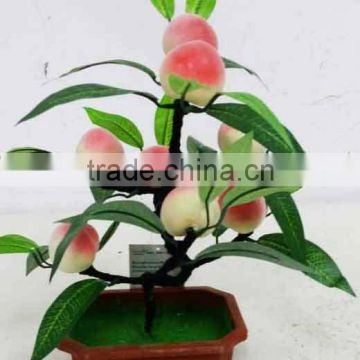 artificial MiNi peach tree bonsai real touch for indoor & outdoor decoration