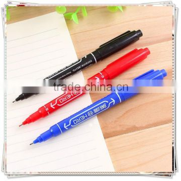 marker pen with 2 heads ,marker pen for laminated paper , leather marker pen