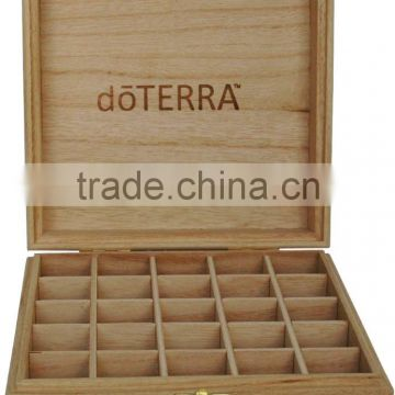 custom logo unfinished pine wood box for essential oil packing