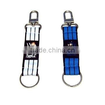 Carabiner keychain with pvc label