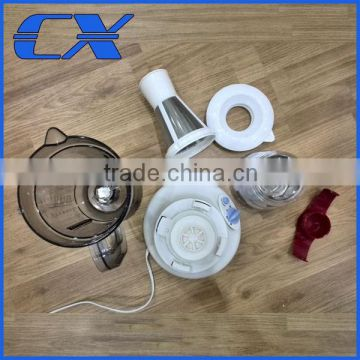 Powerful plastic electric blender with dry grinder