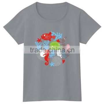 Latest New Design Ladies Fashion loose fit fashion blouse girls tops women tshirt