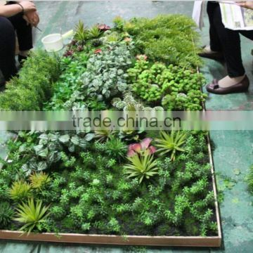 artificial green plants wall for sale