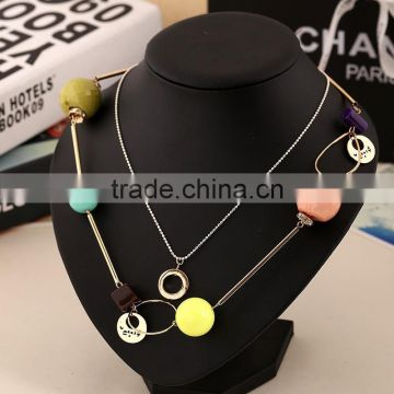 2015 last Beautiful necklace alloy jewelry