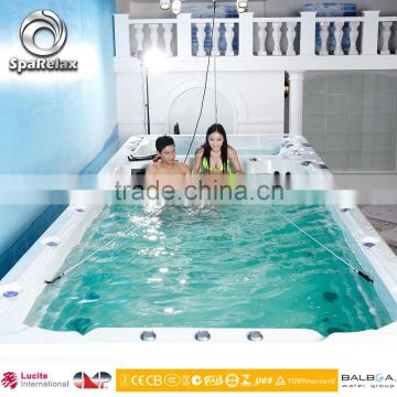 Freestanding installation type and acrylic material swimming spa pool