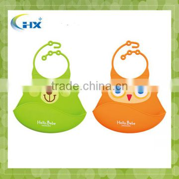 Cute custom printing silicone promotion baby bibs