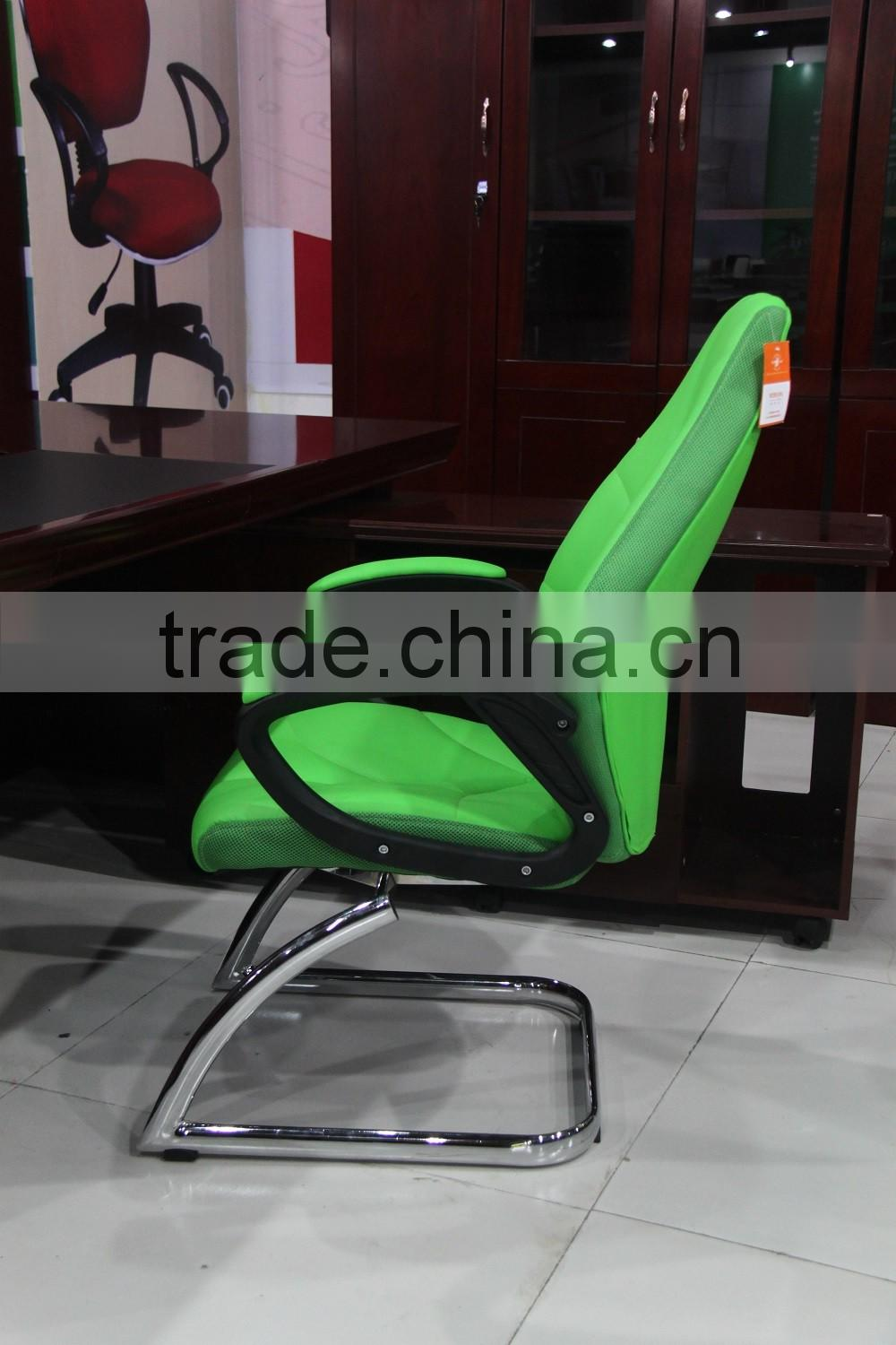 Hot sale green office chair wholesale with metal frame