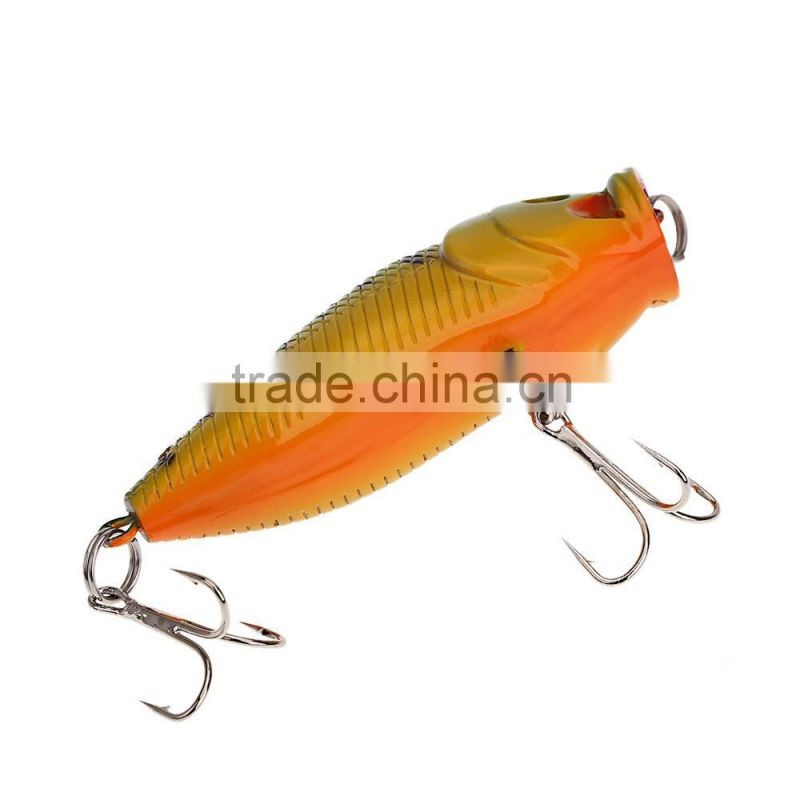7cm 8.8g Popper Fishing Lure Hard Bait with Treble Hooks Fishing Tackle