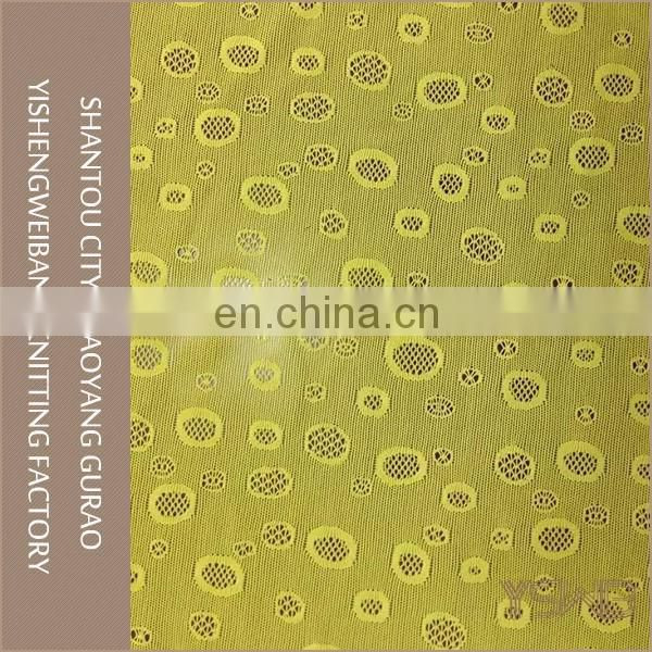 Best design eco-friendly knitted spandex stretch shiny lace fabric