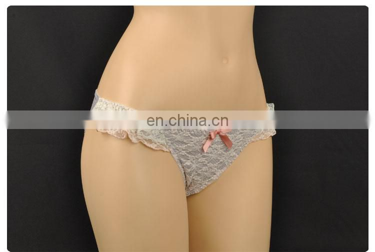 Customized Elegant Female Embriodery Romantic Sexy Young Girls Underwear Panties Model