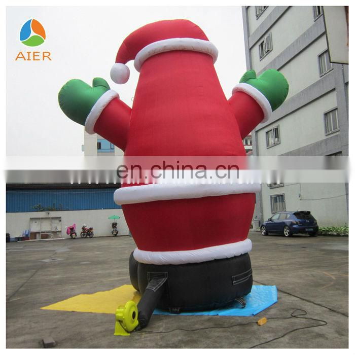 2014 Prevalent Giant Merry Christmas inflatable Santa Claus for promotion with best price