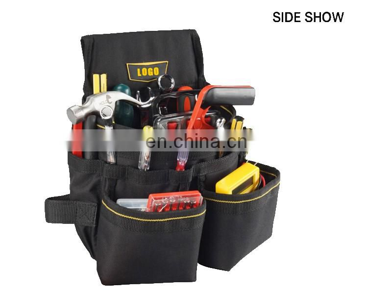 waterproof electrician's tool belt pouch with waist strap