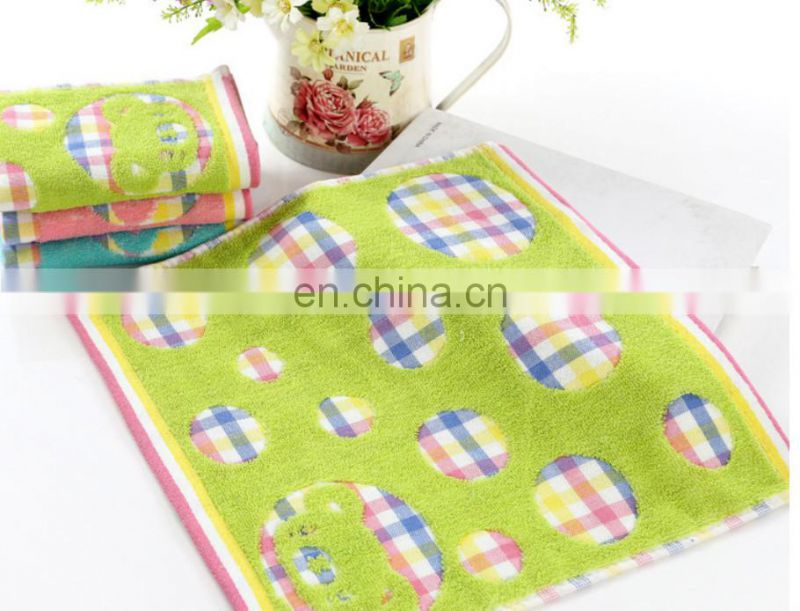 wholesale china supplier towels 100% cotton square hand towel cartoon hand towels
