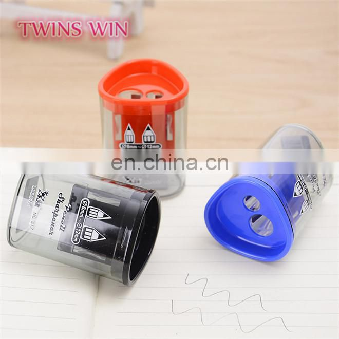 Europe 2018 newest creative school stationery product wholesale cheap nice colored plastic pencil sharpener free samples