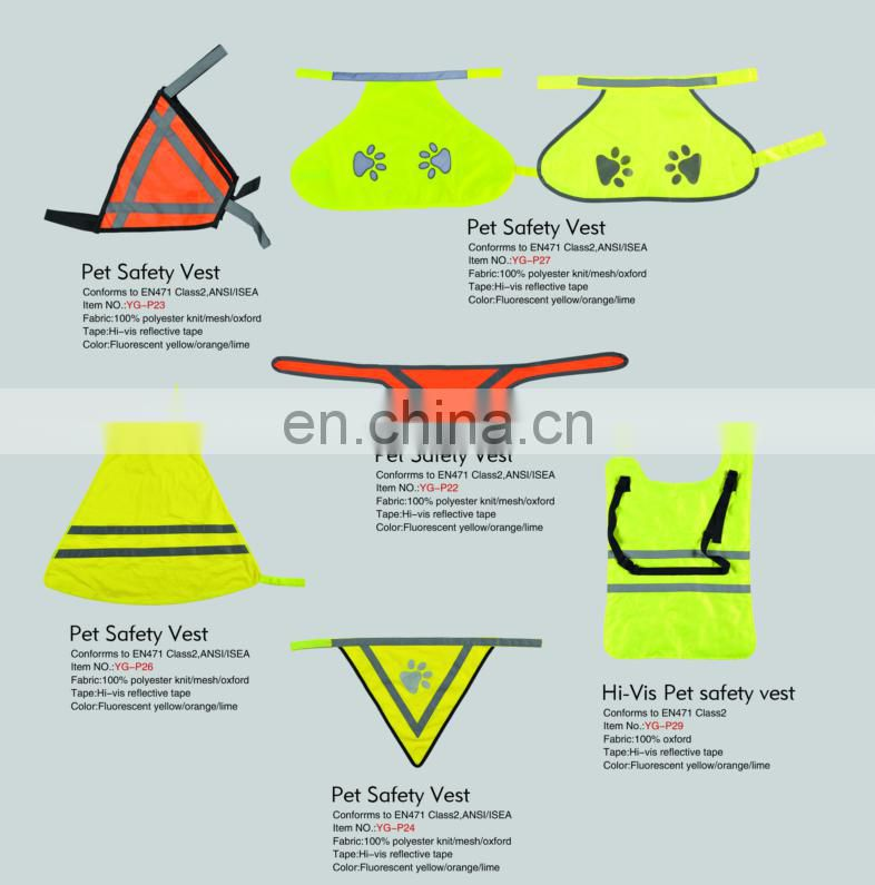 EN ISO 20471 pet reflective vest safety clothing
