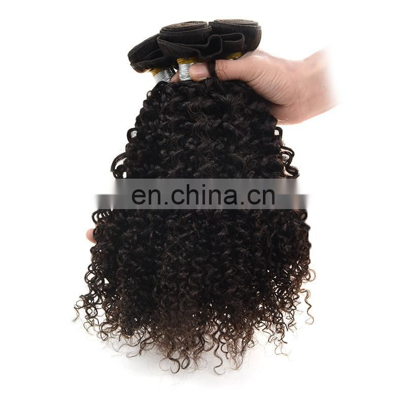hot sale wholesale afro kinky curly hair bundles unprocessed brazilian virgin human hair extension
