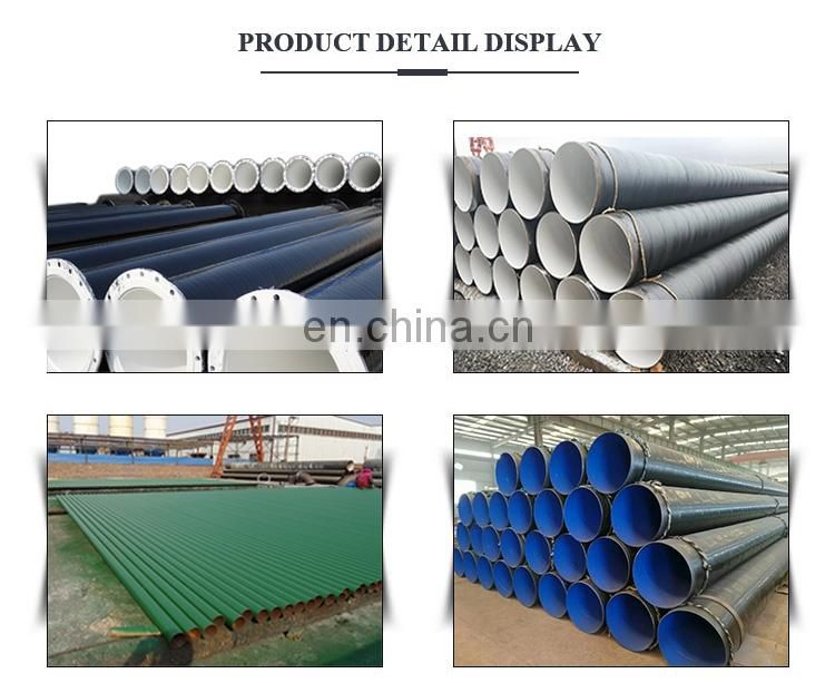 outside 3pe Cement mortar lined anticorrosion SSAW steel pipe for water supply drain pipe