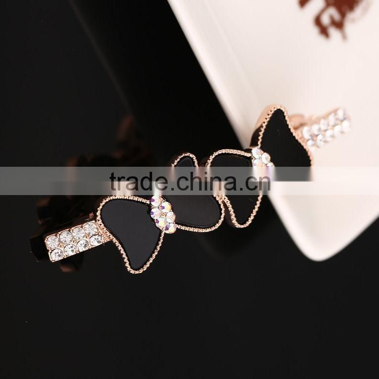 Hot Fashion Vintage Tow Bow Metal Hairpins Enamel Hair Clip Clamp Barrettes Headwear Accessories For Women Girls Jewelry