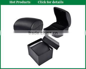 mini detachable grey leather octagon ring case