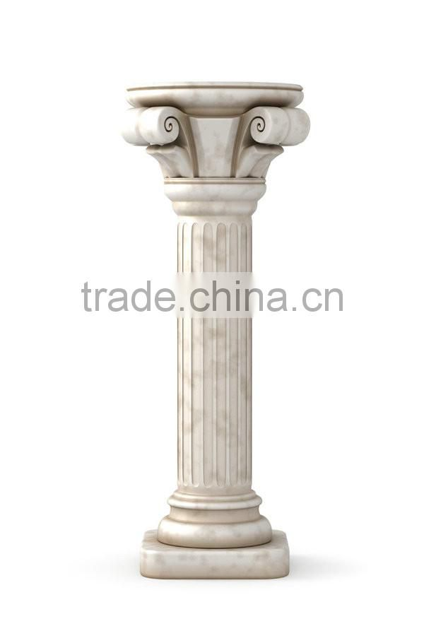 European sex lady stone column in pillar used for decorative