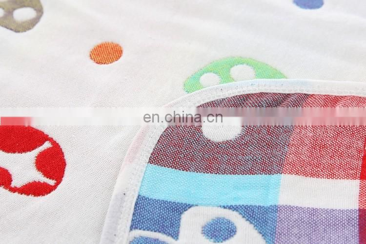 Cartoon Design Four Layers Gauze 100% Cotton Baby Blanket