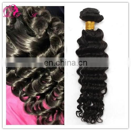 Freya virgin hot sale natural color loose wave 8A unprocessed brazilian hair weave