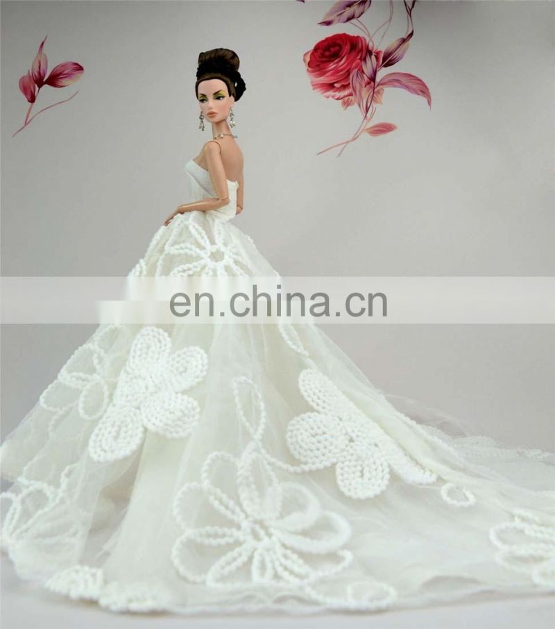 White Fashion Royalty Party Princess Doll Dress Clothes
