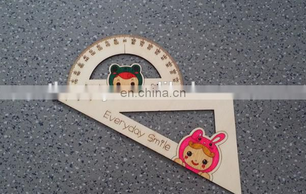Wooden Triangular Ruler Instrument for Kids