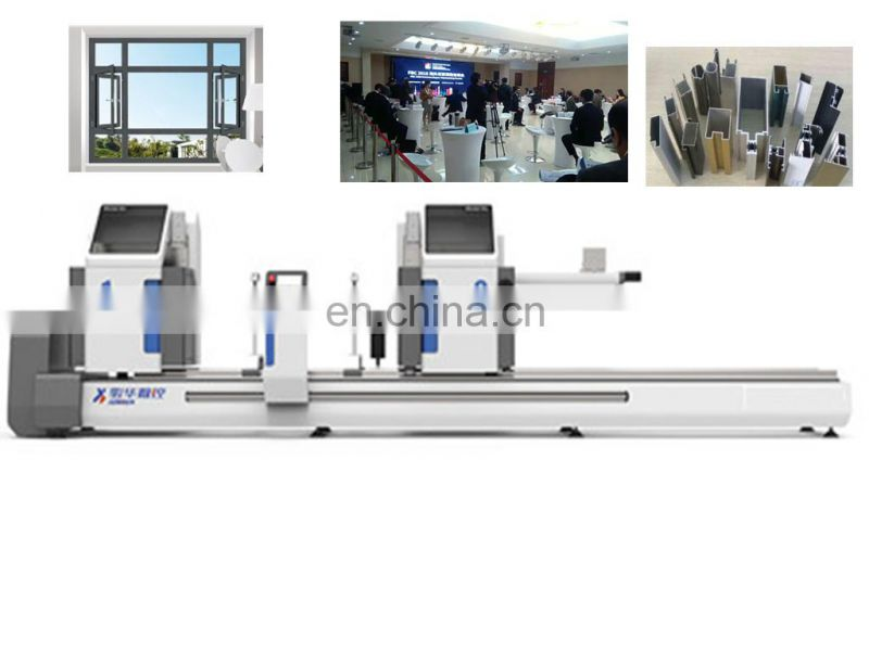 Cnc machinery 2_head cutting saw pillar shape router for sell