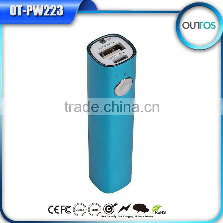 newest design 2000mah power bank mobile phone charger