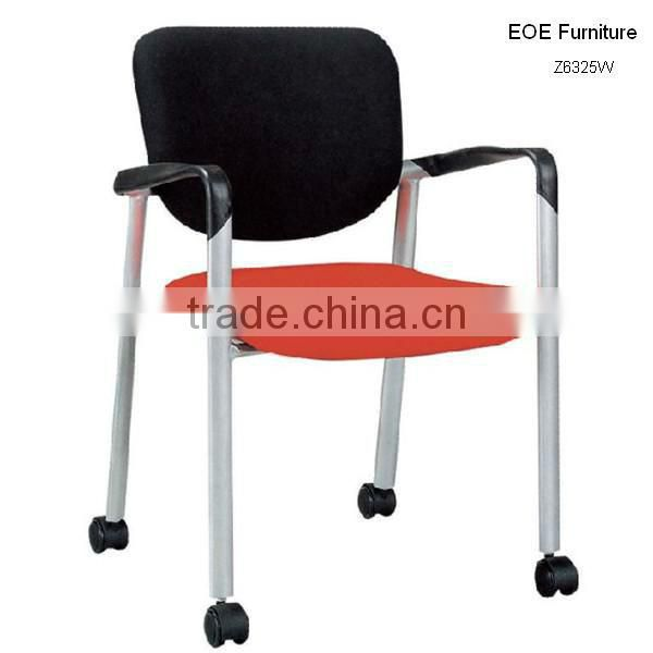 Stacking arm chair with wheels Z6325W
