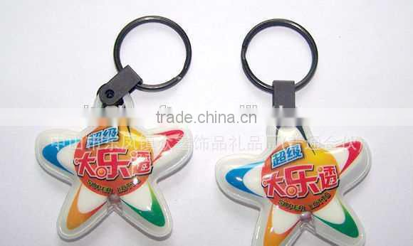 cartoon logo LED keychian