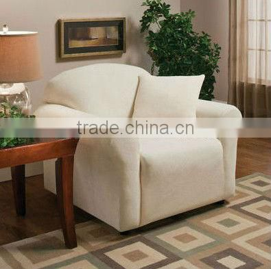 stretch suede fitted sofa slipcover
