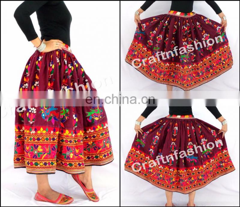 RABARI WORK BOHO SHORT-DESIGNER BOHO GYPSY SHORTS-KUTCH EMBROIDERY BOHEMIAN SHORTS