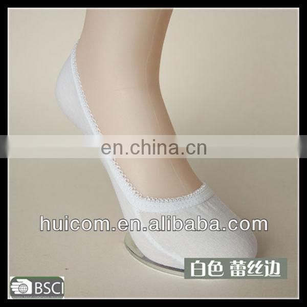 white anti slip invisible sock