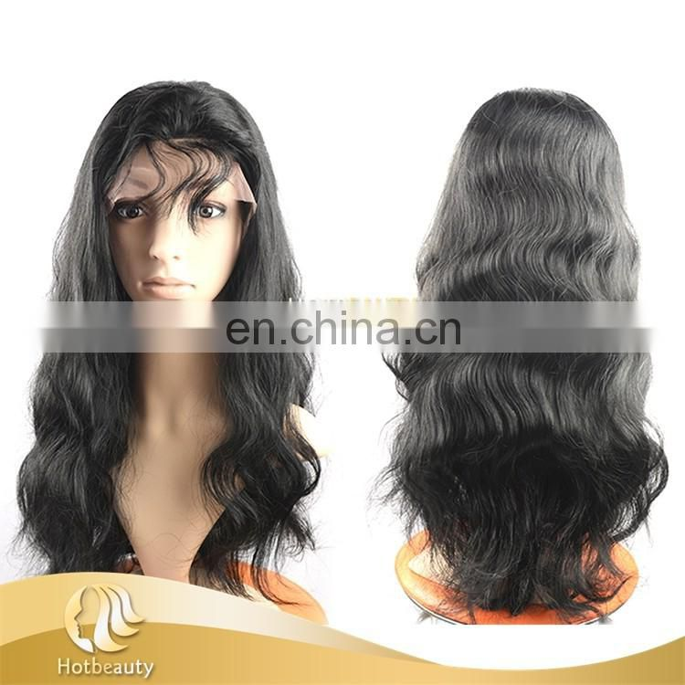 2017 New Arrival Top Quality Full Lace Wig, Raw Brazilian Human Hair Full Lace Wig Curly Wave